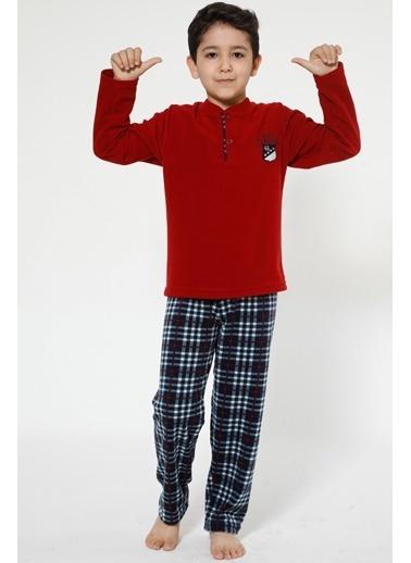 Akbeniz Welsoft Çocuk Pijama Takım Bordo